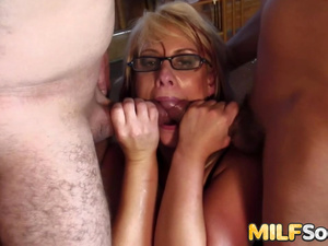 Cock Hungry MILF Crystal Law Gets Her Asshole Pumped Full of Cum After DP