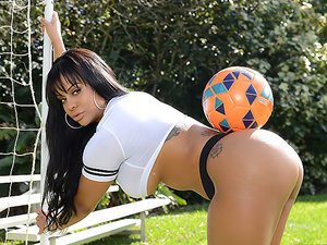 Between Her Goalposts