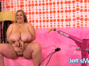 Fat Mature with Monster Tits Cami Cooper Pleasured by a Fucking Machine