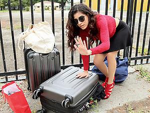 Leaving Her Baggage Behind