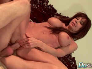 Sweet Brunette Wife Jenla Moore Fucked Doggystyle in Front of Cuckold