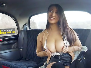 Busty French Asian Tries Euro Cock