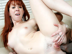 Redhead Trinity Post Gets Her Asshole Annihilated by an Ultra Thick BBC