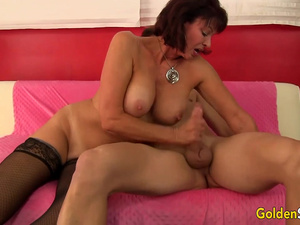 Older Vanessa Videl Couldnt Resist Mounting His Dick After Measuring It