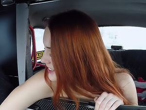 Cute Redhead striptease and fuck