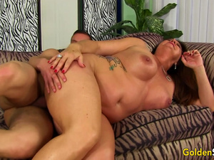 Captivating Older Leylani Wood Fills Her Mouth and Pussy with Hard Cock
