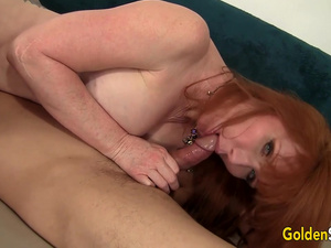 Experienced Mature Redhead Freya Fantasia Destroys Her Boy Toys Cock
