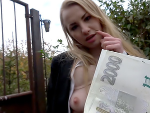 Cute Russian fucked through tights