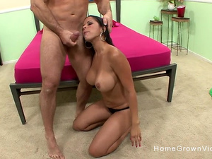 Busty Latina couldnt wait to be pounded by a big cock