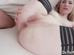 Stranger Pummels Wife Madison Lush Like a Perfect Slut Next to Her Cuckold