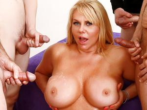 Big Tits Mature Barista Karen Fisher Gets a Five Man Gangbang