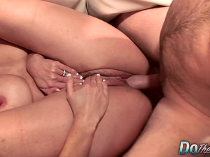 Big Tits MILF Wife Olivia Parrish Fucks an Old Man and Lets Cuckold Watch