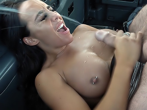 Busty babe plays the rusty trombone
