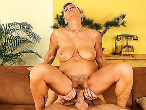 busty mom rough banged by her toyboy