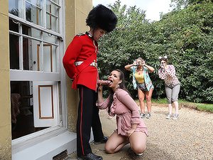 Stroking The Guard's Post