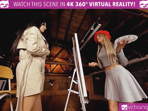 VR BANGERS Rodriguez dolls licking each other's pussies