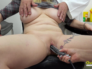 OldNannY Busty British Matures Toying and Licking