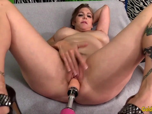 Golden Slut - Mature Women Getting Railed by Fucking Machines Compilation 7