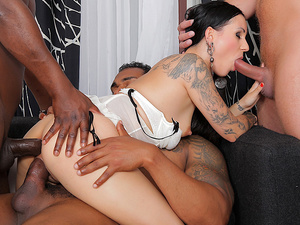 Inked Cumslut Lulu Jung Gets Anally Destroyed by a Gang of BBCs