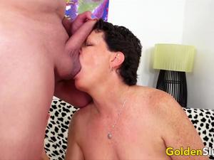 Golden Slut - Short Haired Matures Blowjob Compilation