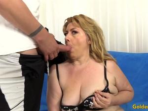 Golden Slut - Mature Lady Gives Her Lover Some Nice Head Compilation