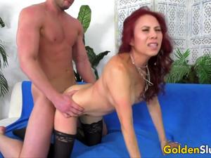 Golden Slut - Exquisite Mature Redheads Doggystyle Compilation