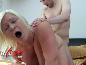AgedLovE Blonde British Mature Lacey Starr Got Laid By Horny Youngster
