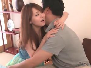 Slender Asian milf Akiho Yoshizawa sucks and gets pounded