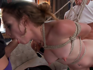 Cheating Wife's first EVER gang-bang!!