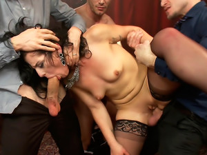 Deviant Desire Fallon provokes the mob to get the gang-bang of her dreams!!