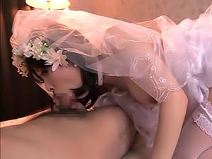 Milf In A Wedding Dress Is Enjoying Her Honeymoon