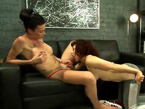 Hard Body Trainer seduces fitness Client and Cums in her ass