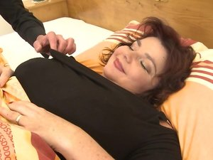 Huge breasted BBW housewife sucking and fucking