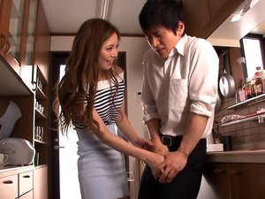 Amateur Asian Babe, Madoka Hitomi Gets Hardcore Stand Fucking