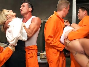 Prison Heat Gangbang virgin begs to be brutalized!