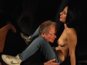 Old man and young girl blind date turns into hot sex