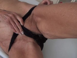 Sexy German grandma masturbating