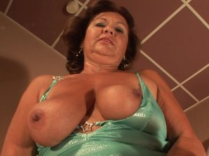 Horny mature slut playing with her pussy