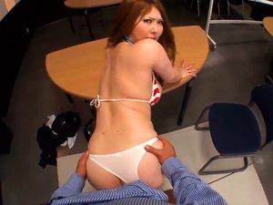 Momoka Nishina Japanese Office Lady Gets Tit Fuck At Work