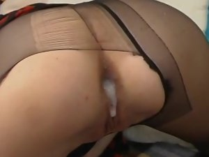 Ambrose and Harry naughty anal pantyhose video