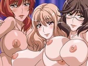Three big titted hentai babes