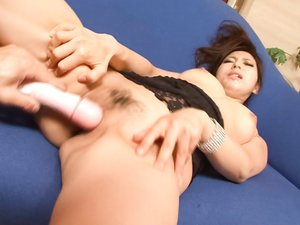 Facial to end Kanade Otowas filthy oral porn show