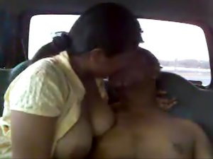 Kinky Indian couple fucking inside the car