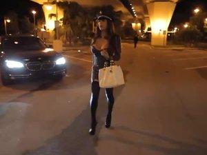 Watch the sexy tranny Jessy Dubai take in some hardcore super cock!