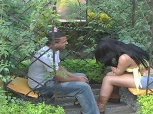 Karoline Gaucha tranny screwing dude on video