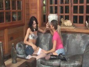 Marcia and Patricia tranny fucks girl movie