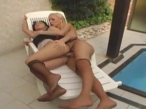 Renata tranny fucks girl action
