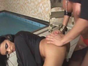 Lorena and Bruna shemale pantyhose sex action